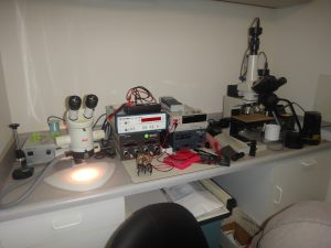 Optical microscopes & electronic testers